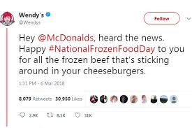Wendy's roasts McDonald's over new 'fresh' burger offering - PR Daily